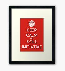 Keep Calm and Roll Initiative Framed Print