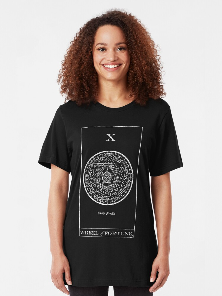 Alternate view of Wheel of Fortune Tarot X Slim Fit T-Shirt