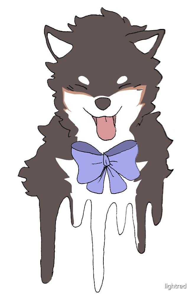 shiba bow doggo by lightred