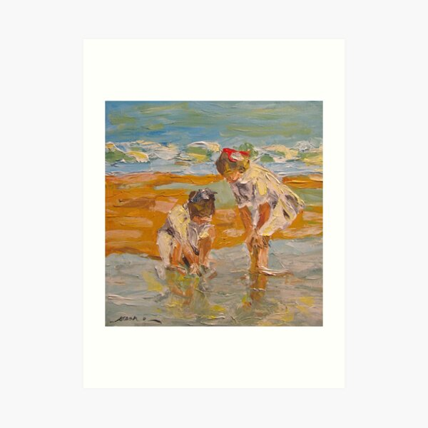 """Study of EH Potthast's """"In the Surf"""" Art Print"""
