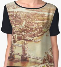 tower bridge aerial Chiffon Top