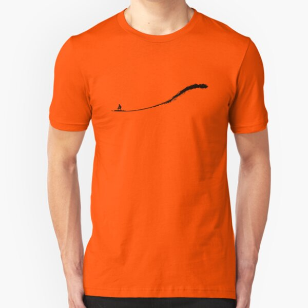 Big Wave Surfing Camiseta ajustada