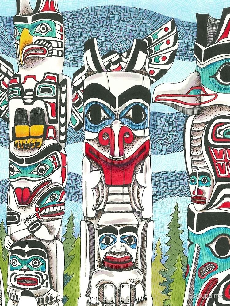 Totem Talk by lesleypaints