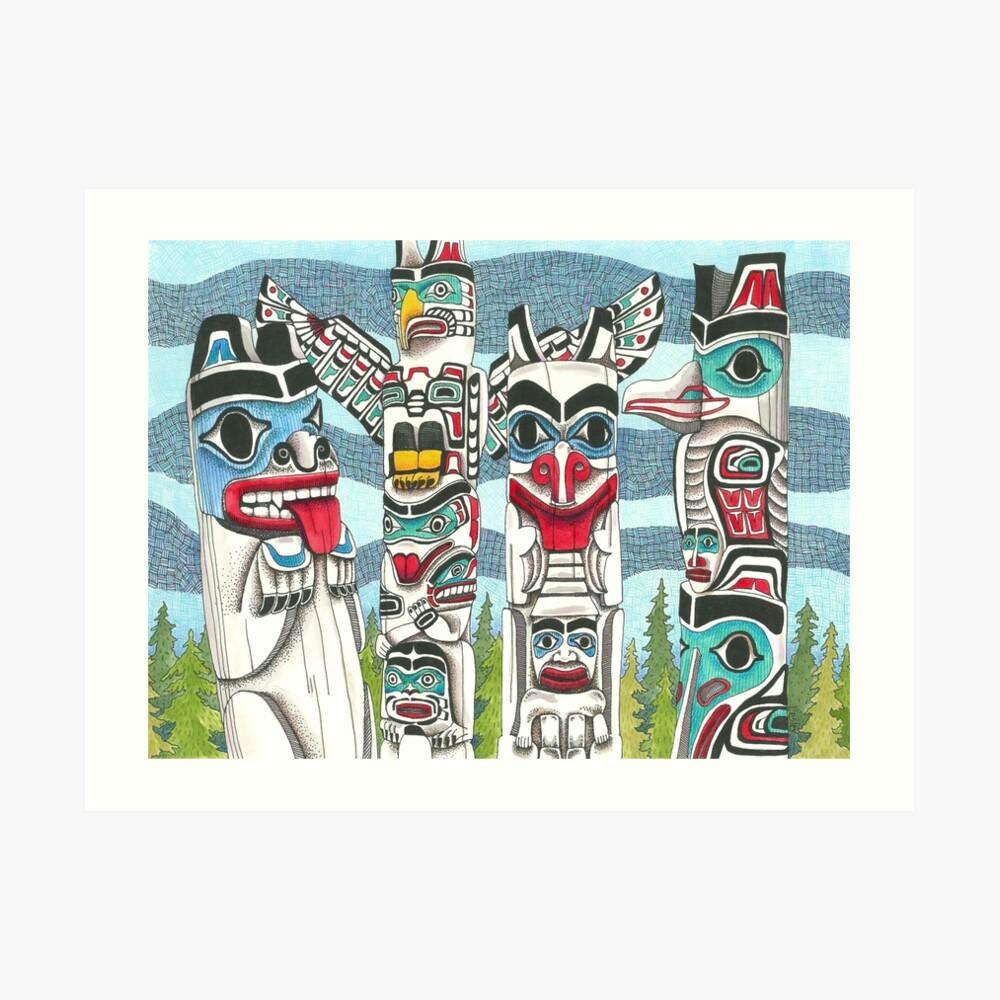 Totem Talk Art Print