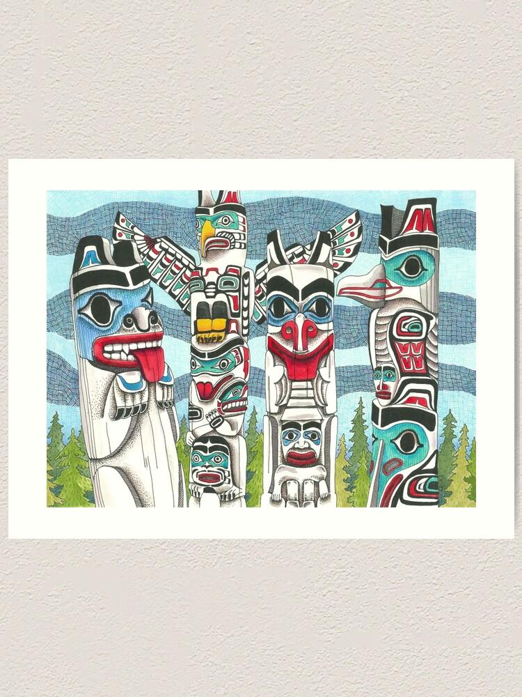 Alternate view of Totem Talk Art Print