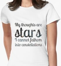 The Fault in Our Stars - My Thoughts Women's Fitted T-Shirt