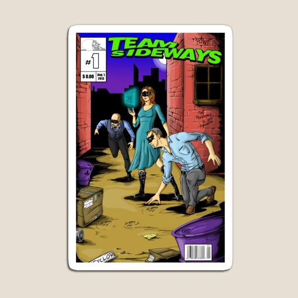 Team Sideways Comic Cover Magnet
