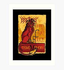 Le Chat Rouge Art Print