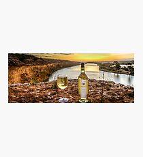Cliff top wine Photographic Print