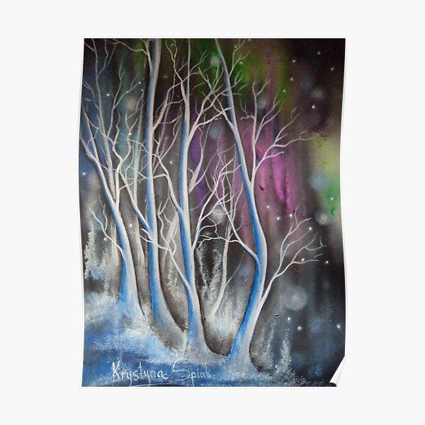 Wondering Blue Trees Poster