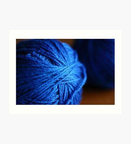 Blue wool Art Print