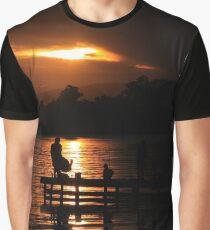 Fishing at dusk Graphic T-Shirt