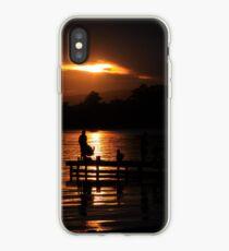 Fishing at dusk iPhone Case