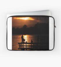 Fishing at dusk Laptop Sleeve
