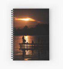 Fishing at dusk Spiral Notebook