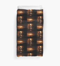 Fishing at dusk Duvet Cover