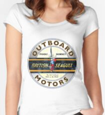 British Seagull Outboard Motors England Women's Fitted Scoop T-Shirt