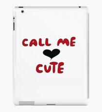 """Call Me Cute"" Red and Black iPad Case/Skin"