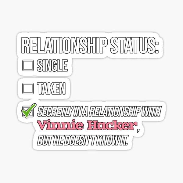 Relationship with Vinnie Hacker Sticker