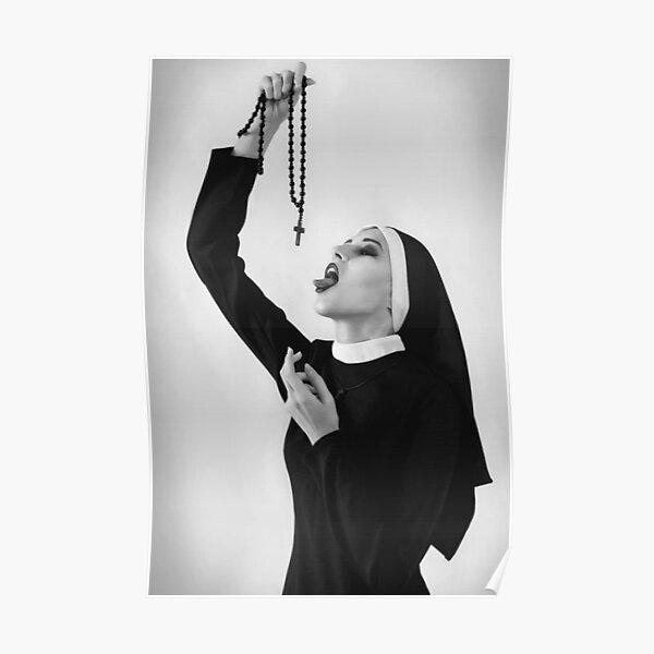 Bad Sexy Nun - Cool Gangsta Trapstar Poster