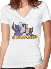 Transformers: Skywarp Women's Fitted V-Neck T-Shirt