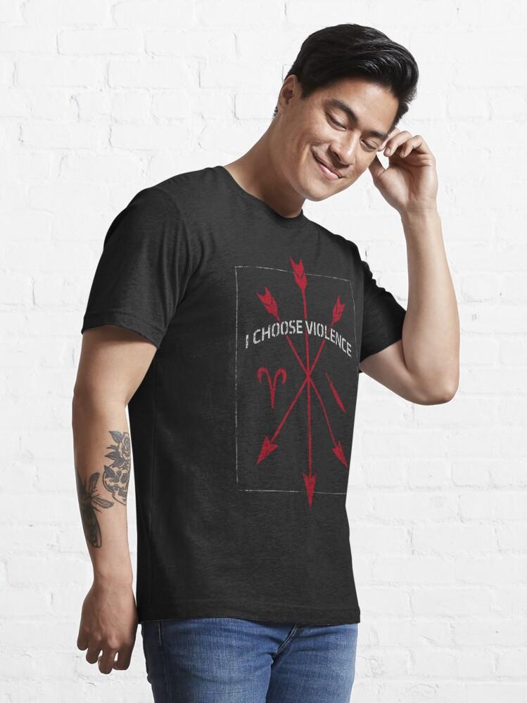 Alternate view of I Choose Violence Essential T-Shirt