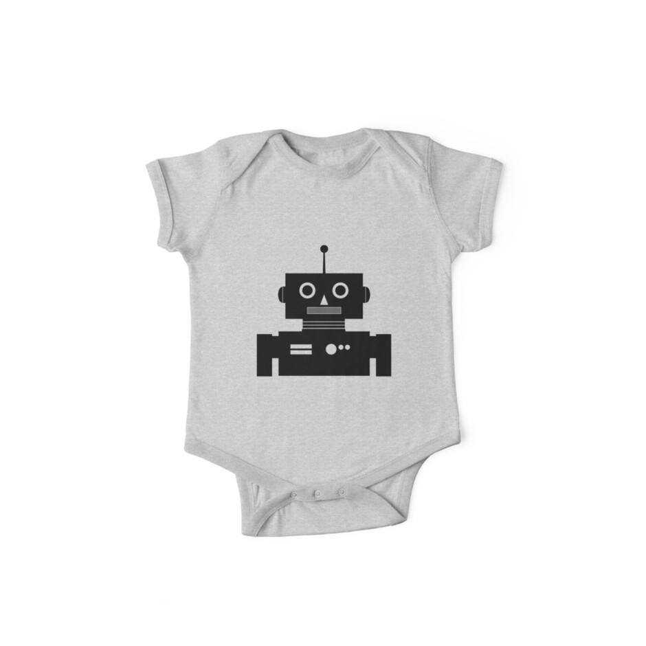 Retro Robot Shape BLK by mdkgraphics