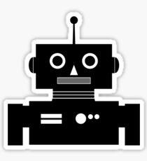 Retro Robot Shape BLK Sticker