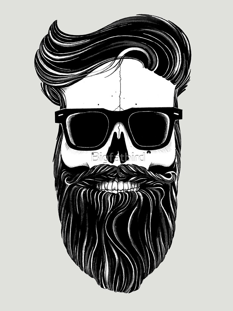 TShirtGifter presents: Ray's black bearded skull  | Women's T-Shirt