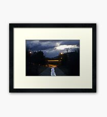 Stormwater reflections Framed Print