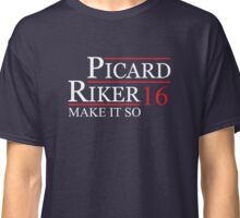 Picard Riker for President 2016 Presidential Election T-Shirt Classic T-Shirt
