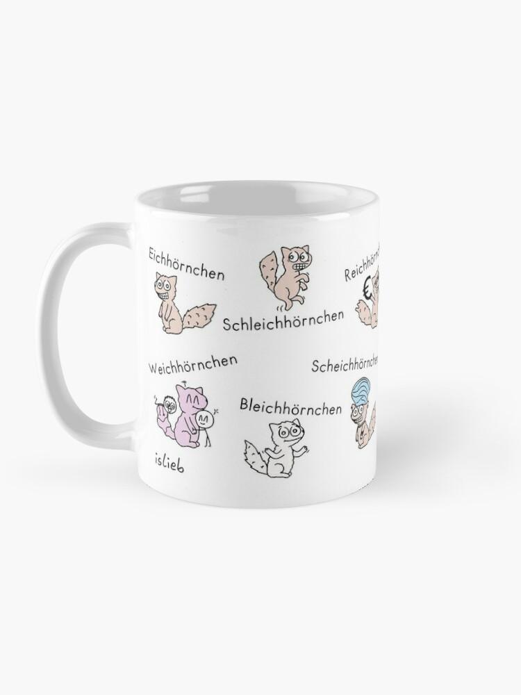 Alternative Ansicht von Eichhörnchen Tasse