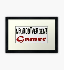 Neurodivergent Gamer Framed Print