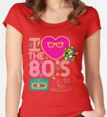 I heart the 80's eighties Women's Fitted Scoop T-Shirt
