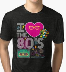 I heart the 80's eighties Tri-blend T-Shirt