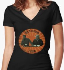 The D is silent! Women's Fitted V-Neck T-Shirt