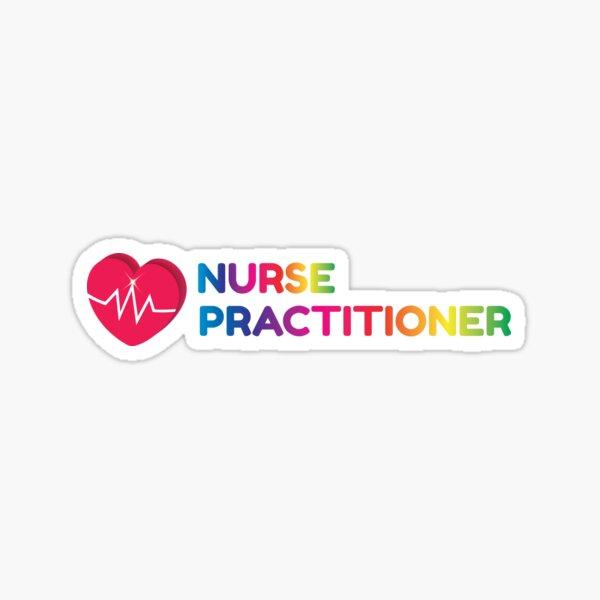 Nurse Practitioner Rainbow Sticker