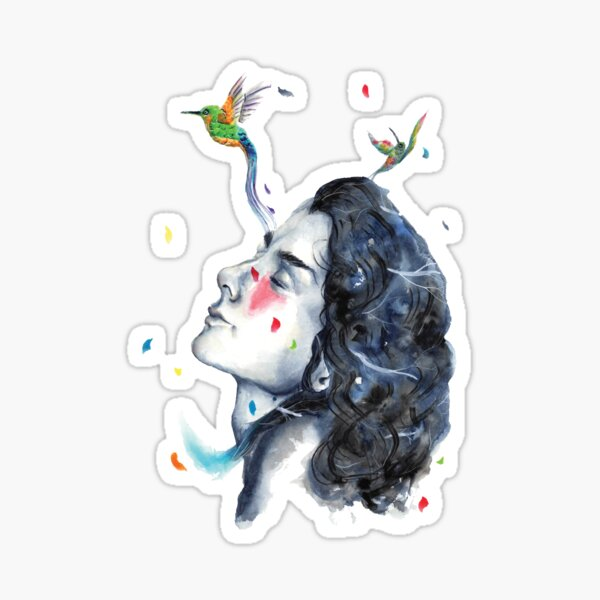 Wandering in the clouds Sticker