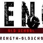 Strength Oldschool Bodybuilding Logo by muscle-art