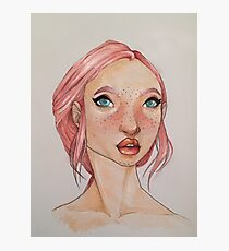 A Portrait in Pink Photographic Print