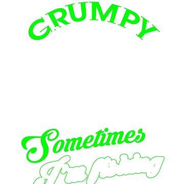 Funny Grumpy Fishing Shirt by minnesotabobs