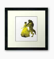 Beauty and the Beast Galaxy Framed Print