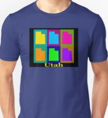 Colorful Utah State Pop Art Map T-Shirt