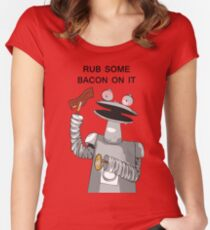 Bacon Bot GMM Women's Fitted Scoop T-Shirt