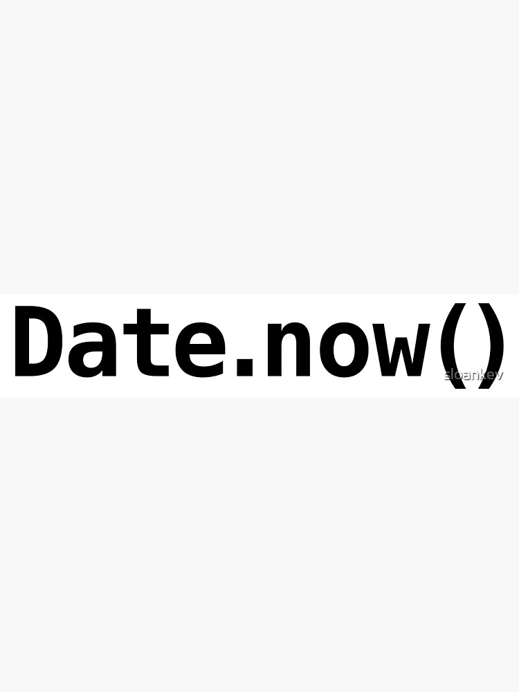 Date now() - Javascript | Greeting Card