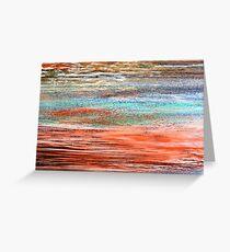 Tangerine Dusk - Oil Pastel Greeting Card