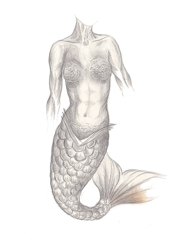 Mermaid (pencil) by mugs-munny
