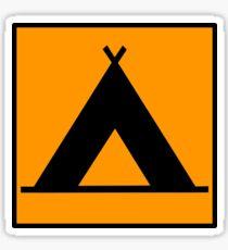 Campsite Symbol Sticker