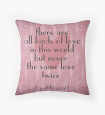 F. Scott Fitzgerald Illustrated Quote Throw Pillow