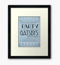 Party at Gatsby's Invitation Framed Print